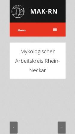 Vorschau der mobilen Webseite www.mak-rn.de, Mykologischer Arbeitskreis Rhein-Neckar