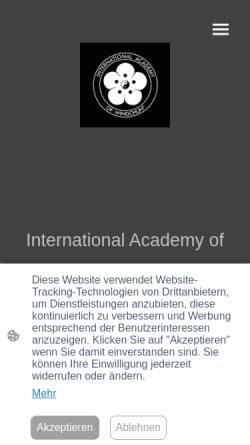Vorschau der mobilen Webseite iaw-hq.com, International Academy of WingChun (IAW)