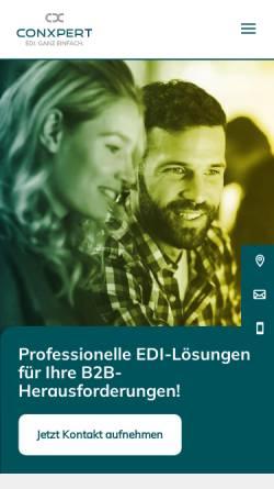 Vorschau der mobilen Webseite www.conxpert.de, ConXpert GmbH & Co. KG