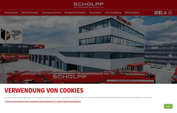Vorschau von www.scholpp.de, Alfred Scholpp GmbH & Co. KG