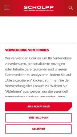 Vorschau der mobilen Webseite www.scholpp.de, Alfred Scholpp GmbH & Co. KG