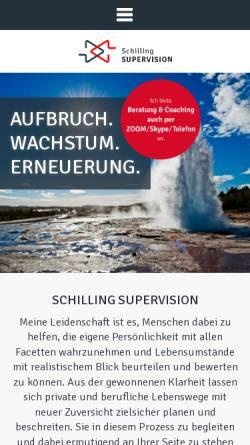 Vorschau der mobilen Webseite www.schilling-supervision.com, Birgit Schilling - Supervision, Coaching und Beratung