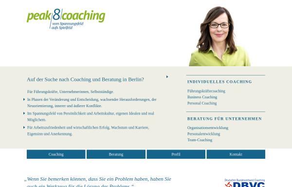 Vorschau von www.peak8.de, Coaching & Organisationsentwicklung