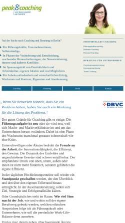 Vorschau der mobilen Webseite www.peak8.de, Coaching & Organisationsentwicklung
