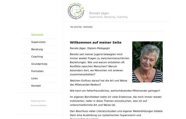 Vorschau von renate-jaeger.com, Coaching, Supervision und Beratung - Renate Jäger