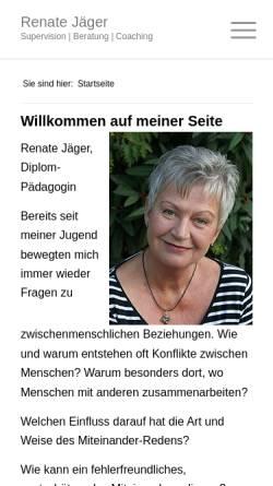 Vorschau der mobilen Webseite renate-jaeger.com, Coaching, Supervision und Beratung - Renate Jäger