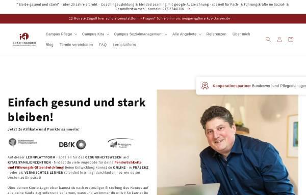Vorschau von www.campus-pflege.de, Coachingbüro Sinn meets Management