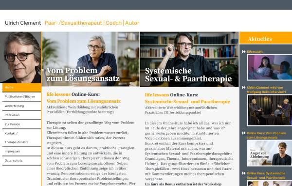 Vorschau von ulclement.de, Prof. Dr. phil Dipl.-Psych. Ulrich Clement