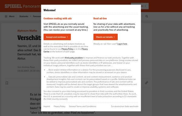 Vorschau von www.spiegel.de, Peus, Andrea