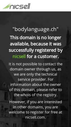 Vorschau der mobilen Webseite www.bodylanguage.ch, Body Language