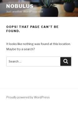 Vorschau der mobilen Webseite www.nobulus.at, Nobulus - Urban Dance Artists