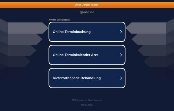 Vorschau von www.garde.de, Gardé Uhren & Feinmechanik Ruhla GmbH