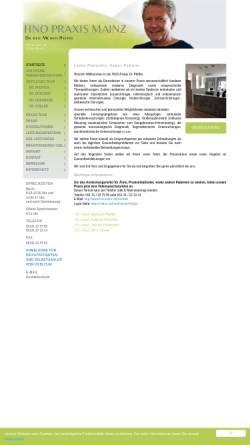 Vorschau der mobilen Webseite www.hnomainz.de, Gemeinschaftspraxis Dr. med. Michael Pfeffer, Christian Schwarz und Ulrike Springer