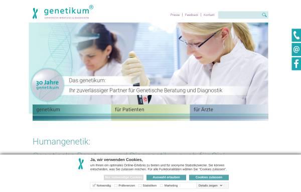 Vorschau von www.genetikum.de, Genetikum – Genetische Beratung und Diagnostik