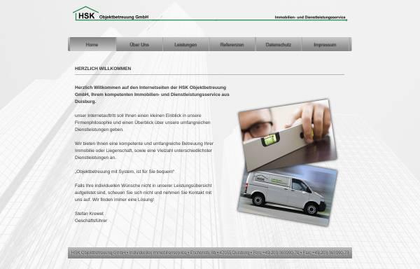 Vorschau von www.hsk-du.de, HSK Objektbetreuung in Duisburg