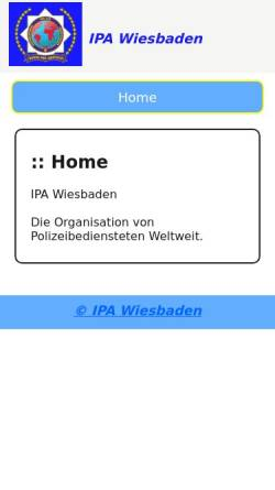 Vorschau der mobilen Webseite www.ipa-wiesbaden.de, International Police Association