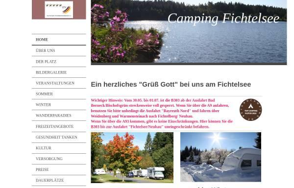 Vorschau von www.camping-fichtelsee.de, Campingplatz Fichtelsee