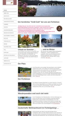 Vorschau der mobilen Webseite www.camping-fichtelsee.de, Campingplatz Fichtelsee