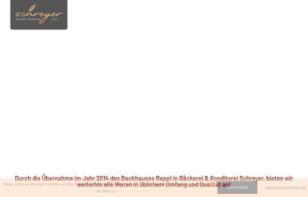 Vorschau von www.backwelt-rappl.de, Rappls Back- und Kaffeehaus