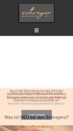 Vorschau der mobilen Webseite www.backwelt-rappl.de, Rappls Back- und Kaffeehaus