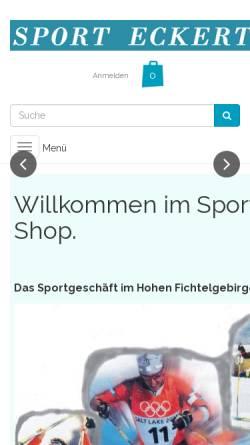 Vorschau der mobilen Webseite www.sport-eckert.de, Sport-Eckert