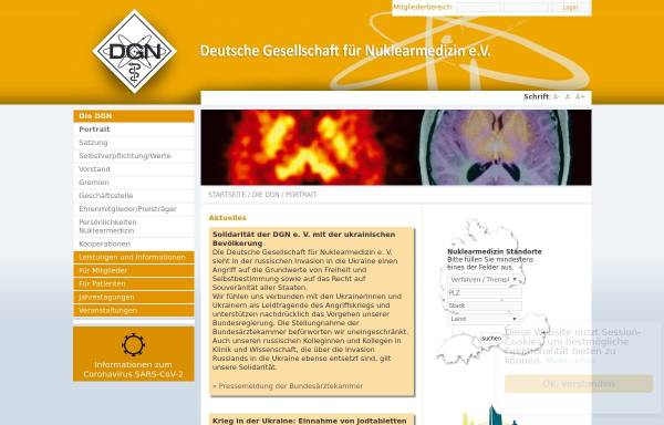 Vorschau von www.nuklearmedizin.de, Deutsche Gesellschaft für Nuklearmedizin