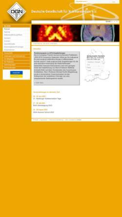 Vorschau der mobilen Webseite www.nuklearmedizin.de, Deutsche Gesellschaft für Nuklearmedizin