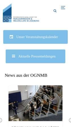 Vorschau der mobilen Webseite www.ogn.at, Österreichische Gesellschaft für Nuklearmedizin