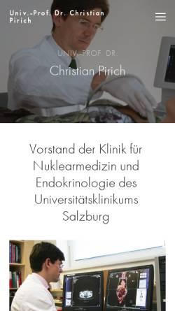 Vorschau der mobilen Webseite www.pirich.at, Prof. Pirich, Salzburg