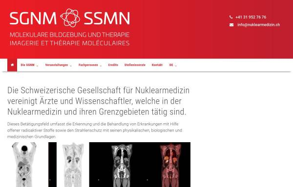 Vorschau von www.nuklearmedizin.ch, Schweizerische Gesellschaft für Nuklearmedizin