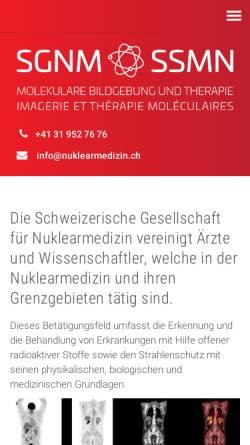 Vorschau der mobilen Webseite www.nuklearmedizin.ch, Schweizerische Gesellschaft für Nuklearmedizin