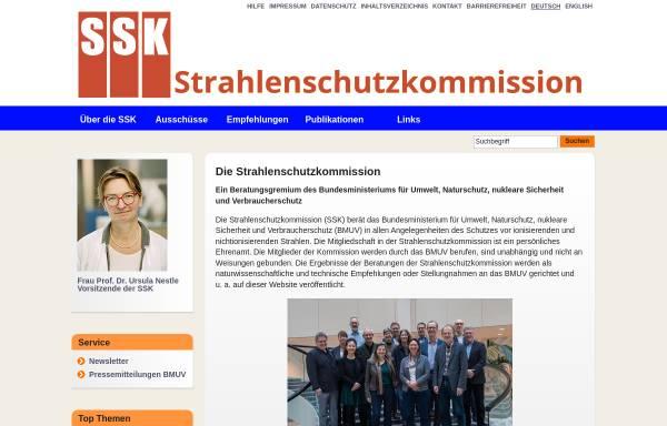 Vorschau von www.ssk.de, Strahlenschutzkommission