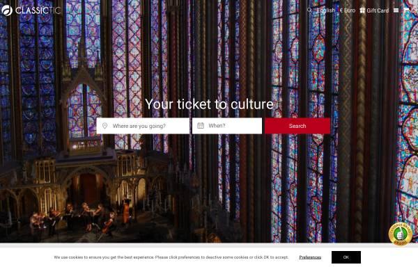 Vorschau von www.classictic.com, Classictic Konzertagentur