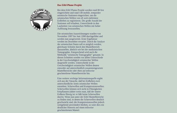Vorschau von www.vulkanismus.de, Eifel-Plume Projekt