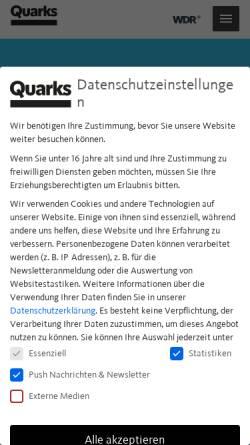 Vorschau der mobilen Webseite www.quarks.de, Leben mit Vulkanen