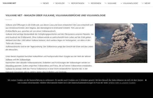Vorschau von www.vulkane.net, Vulkane Online