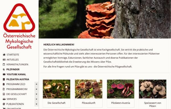 Vorschau von www.myk.univie.ac.at, Österreichische Mykologische Gesellschaft