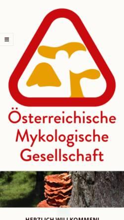 Vorschau der mobilen Webseite www.myk.univie.ac.at, Österreichische Mykologische Gesellschaft