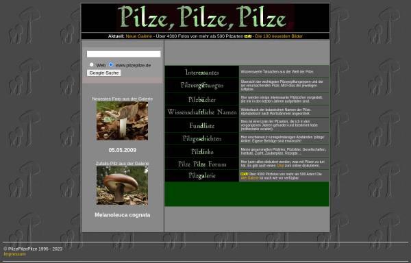 Vorschau von www.pilzepilze.de, Pilz-Informationen und Pilz-Forum (von Georg Müller)