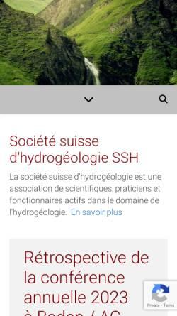 Vorschau der mobilen Webseite www.hydrogeo.ch, Schweizerische Gesellschaft für Hydrogeologie (SGH)