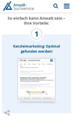 Vorschau der mobilen Webseite www.advo.de, Advo.de
