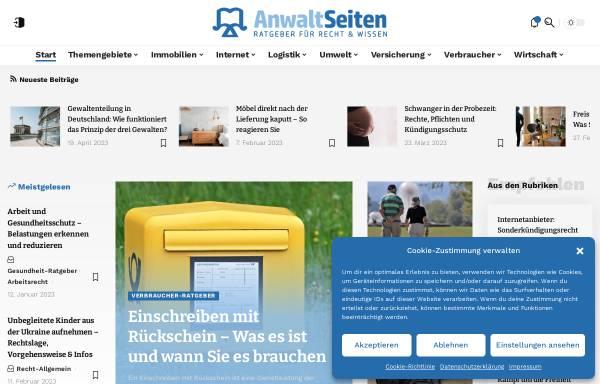 Vorschau von www.anwalt-seiten.de, Anwalt-Seiten.de