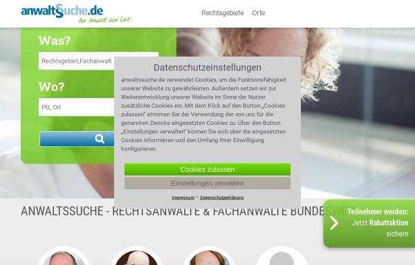 Vorschau von www.anwaltssuche.de, anwaltssuche.de - Ihr Rechtsanwalt vor Ort