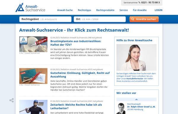Vorschau von www.anwalt-suchservice.de, Anwalt-Suchservice