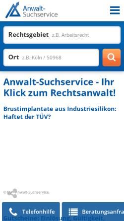 Vorschau der mobilen Webseite www.anwalt-suchservice.de, Anwalt-Suchservice