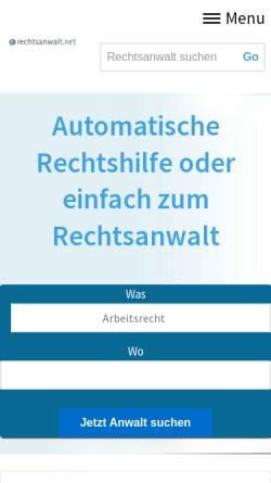 Vorschau der mobilen Webseite www.e-fachanwalt.de, Fachanwaltsuche e-fachanwalt