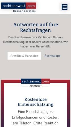 Vorschau der mobilen Webseite www.rechtsanwalt.com, rechtsanwalt.com by ArenoNet GmbH
