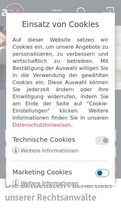 Vorschau der mobilen Webseite www.anwalt24.de, www.anwalt24.de