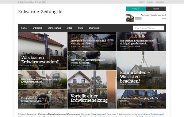 Vorschau von www.erdwaerme-zeitung.de, Erdwärme-Zeitung