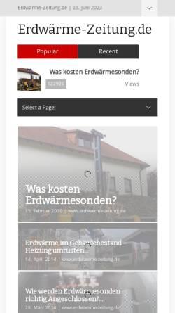 Vorschau der mobilen Webseite www.erdwaerme-zeitung.de, Erdwärme-Zeitung